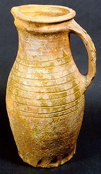 Baluster jug with strap handle