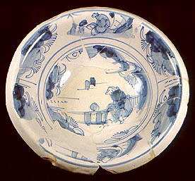 English delftware ?London type; identifier pw163