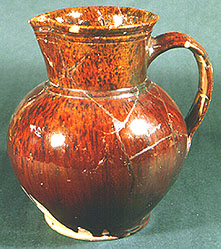 Shouldered jug in Mottled Brown ware